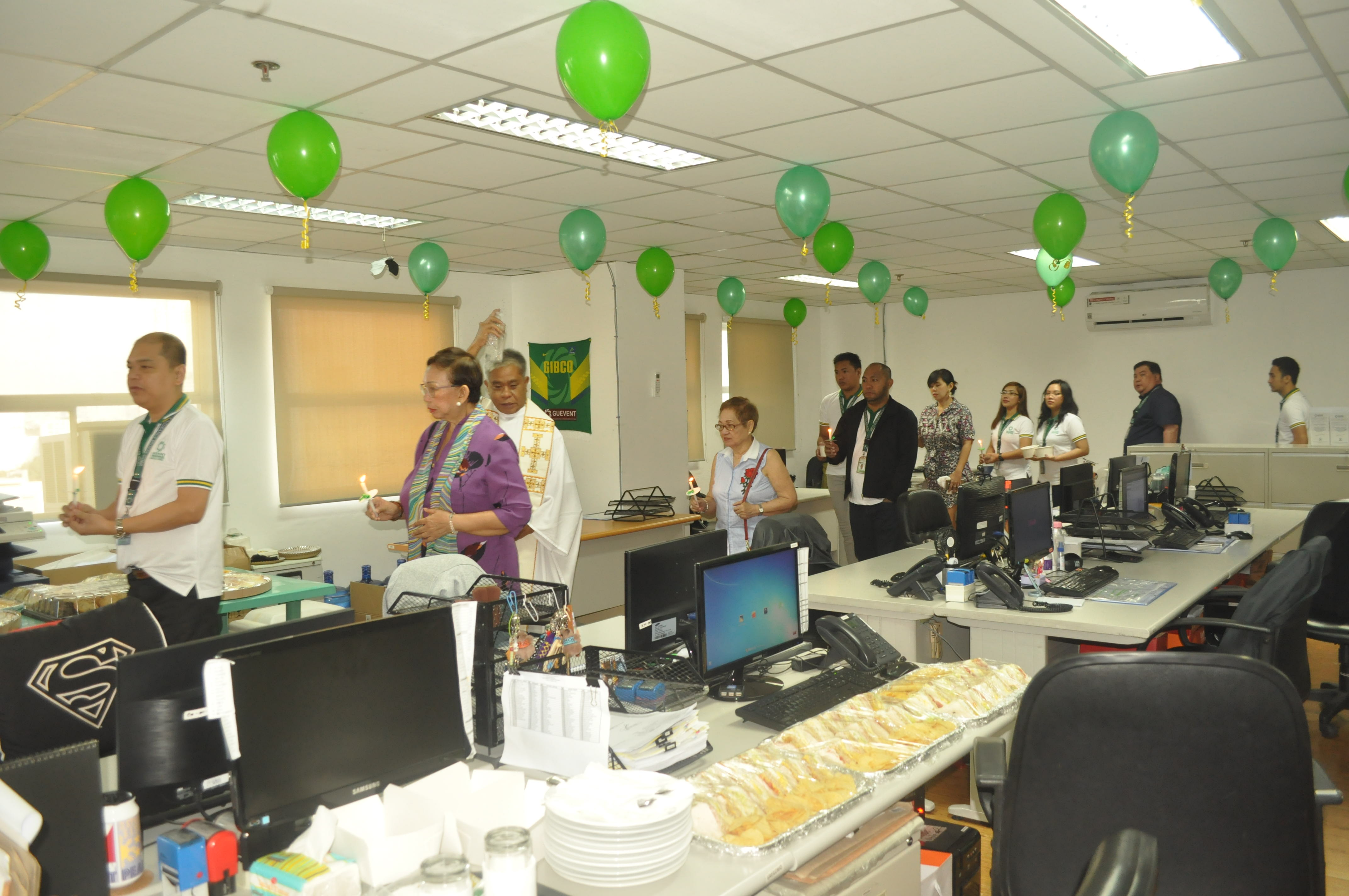 GIBCO holds Blessing of New Office